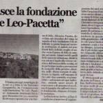 Nasce la fondazione De Leo Pacetta